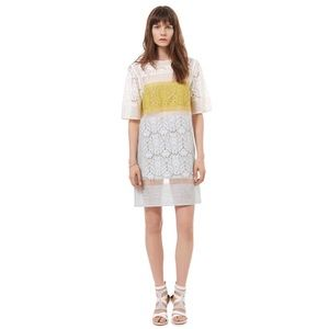 Rebecca Taylor Lace Patchwork Runway Dress 6